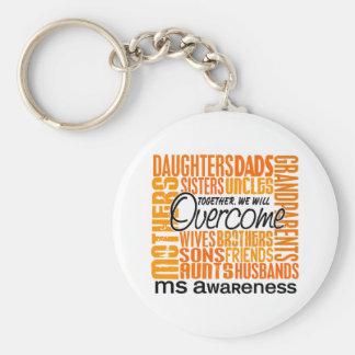 Ms cuadrado de la familia llavero personalizado