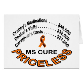 MS  CURE PRICELESS, ITEMS GREETING CARDS