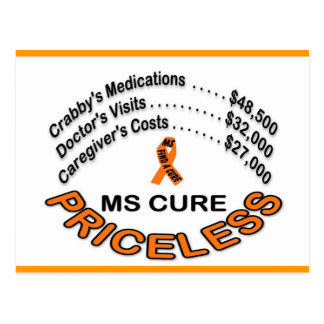 MS  CURE PRICELESS, ITEMS POSTCARD
