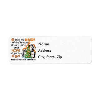 Ms de la esclerosis múltiple de los pingüinos del  etiqueta de remite