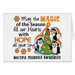 Ms de la esclerosis múltiple de los pingüinos del  tarjeton