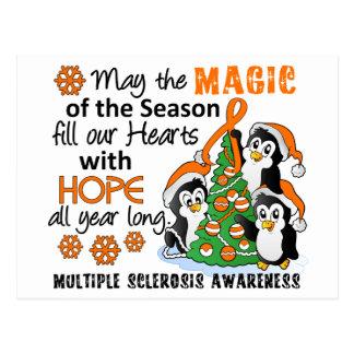 Ms de la esclerosis múltiple de los pingüinos del  tarjeta postal