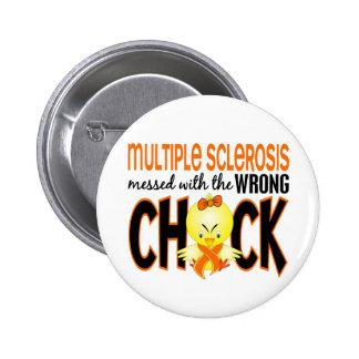 Ms de la esclerosis múltiple ensuciado con el poll pin redondo 5 cm