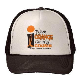 Ms de la esclerosis múltiple llevo el naranja para gorras de camionero