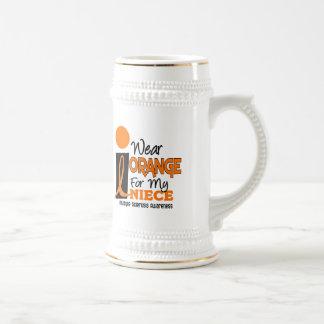 Ms de la esclerosis múltiple llevo el naranja para jarra de cerveza