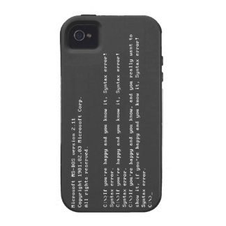 MS-DOSS 2.11 Syntax error iPhone 4/4S Cover