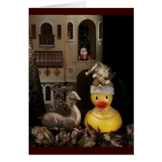 Ms. Ducky Claus Card