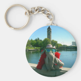 Ms Ella at the park Keychain