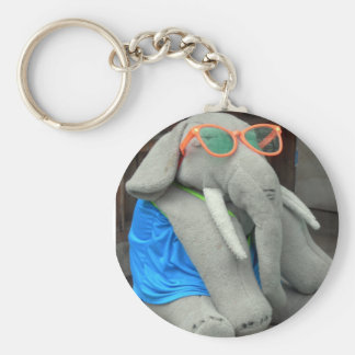 Ms Ella goes to the pool Keychain