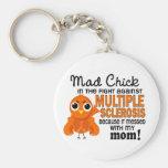 Ms enojado de la esclerosis múltiple de la mamá de llavero personalizado
