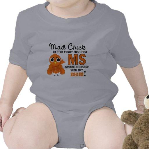 Ms enojado de la esclerosis múltiple de la mamá de trajes de bebé