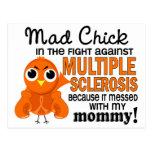 Ms enojado de la esclerosis múltiple de la mamá de tarjetas postales