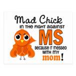 Ms enojado de la esclerosis múltiple de la mamá de postal