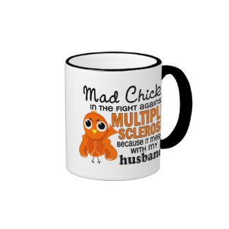 Ms enojado de la esclerosis múltiple del marido de taza a dos colores