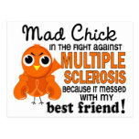 Ms enojado de la esclerosis múltiple del mejor ami postales