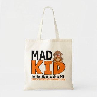 Ms enojado del niño bolsa de mano