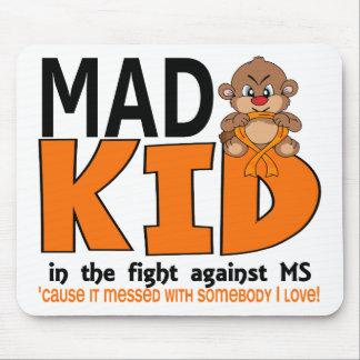 Ms enojado del niño alfombrilla de ratón