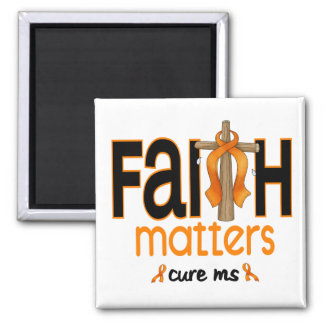 MS Faith Matters Cross 1 2 Inch Square Magnet