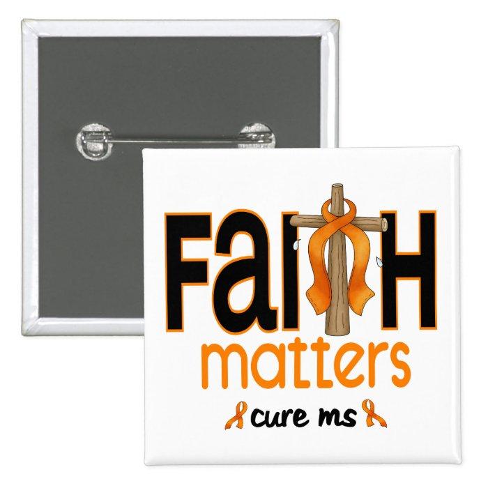MS Faith Matters Cross 1 Button