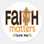 MS Faith Matters Cross 1 Stickers