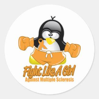 MS Fighting Penguin Stickers