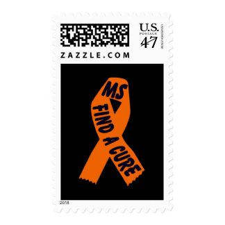 MS, Find A Cure Postage, ORANGE RIBBON Postage