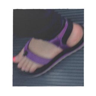 Ms Foot Memo Notepad