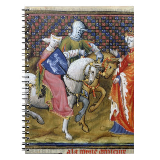 Ms Fr. 120 The Lady of the Lake Meeting Guinevere, Notebook