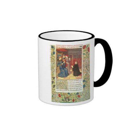 Ms Fr.2679 f.377 Jacques Coeur (c.1395-1456) del a Taza A Dos Colores