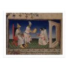 Ms Fr 2810 f.3v Kublai Khan (1214-94) giving his g Postcard