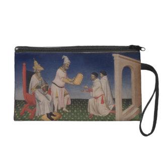 Ms Fr 2810 f.3v Kublai Khan (1214-94) giving his g Wristlet Purse