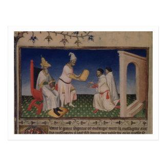 Ms Fr 2810 f.3v Kublai Khan (1214-94) que da su g Postal
