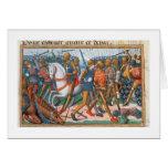 Ms Fr 5054 f.11 la batalla de Agincourt, 1415, par Tarjeta De Felicitación