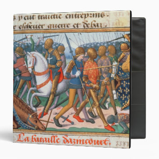 Ms Fr 5054 f.11 The Battle of Agincourt, 1415, fro 3 Ring Binder
