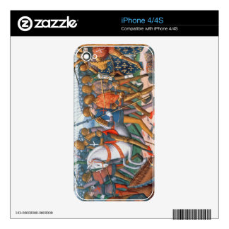 Ms Fr 5054 f.11 The Battle of Agincourt, 1415, fro iPhone 4 Skin
