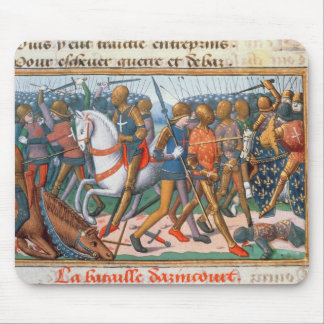 Ms Fr 5054 f.11 The Battle of Agincourt, 1415, fro Mouse Pad