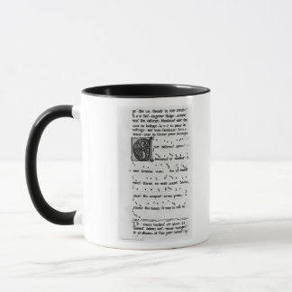 Ms.Fr 844 fol.138v Song by Blondel de Nesles Mug
