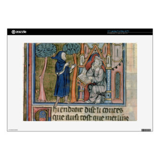 "Ms Fr. 95 f.268 Merlin dictates the story to Blais Skins For 15"" Laptops"