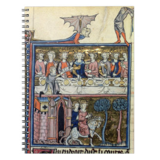 Ms Fr 95 f.326 King Arthur and his Knights around Notebook