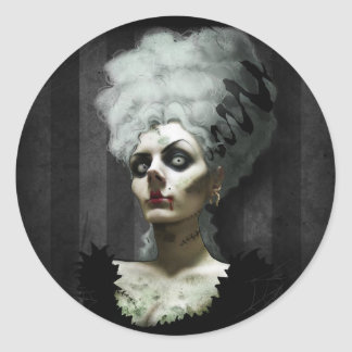 Ms Fright Sticker Etiqueta Redonda