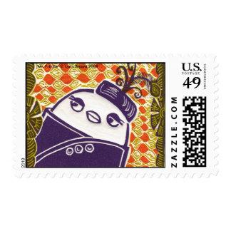 'Ms Frizzle' © Lynn Bryan... Postage Stamp