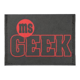 Ms Geek Card Case Wallet