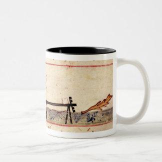 Ms. Grec 479 Traditional ivory work Two-Tone Coffee Mug