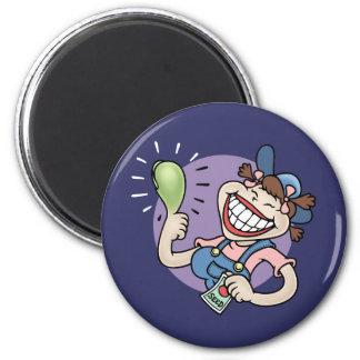 Ms. Greenthum 2 Inch Round Magnet