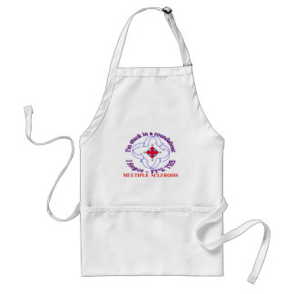 MS has me stuck ina ROUNDABOUT Adult Apron