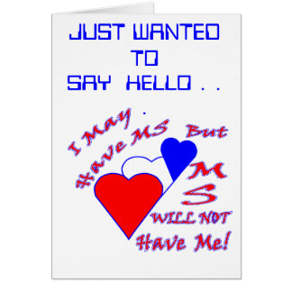MS HELLO NOTE CARD