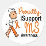 MS iSupport 1 SFT Round Stickers