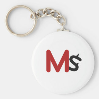 MS Keychain (Red/Gray)