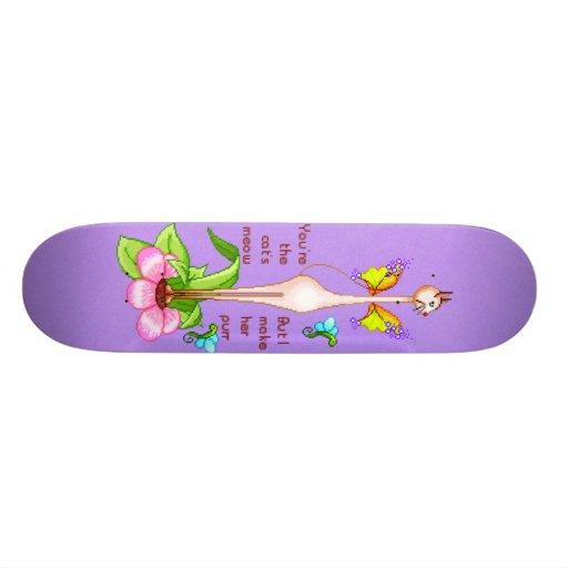 Ms. Kitty Siamese Cat Custom Skate Board