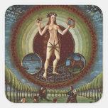 """Ms Lat. 209 f.9v Venus, de """"De Sphaera"""", c.1470 Pegatina Cuadrada"""